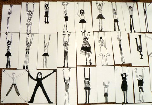 The Body - drawings beginning to explore dimension and stretch.