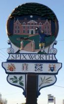 17th Century onwards side, of Spixworth village sign.