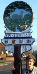 Spixworth Village sign, Norfolk. (2013)