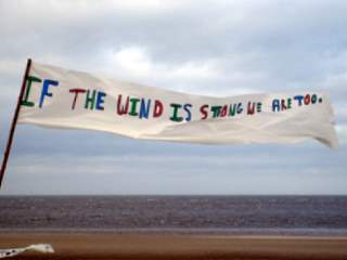 Wind Banner at Brancaster beach
