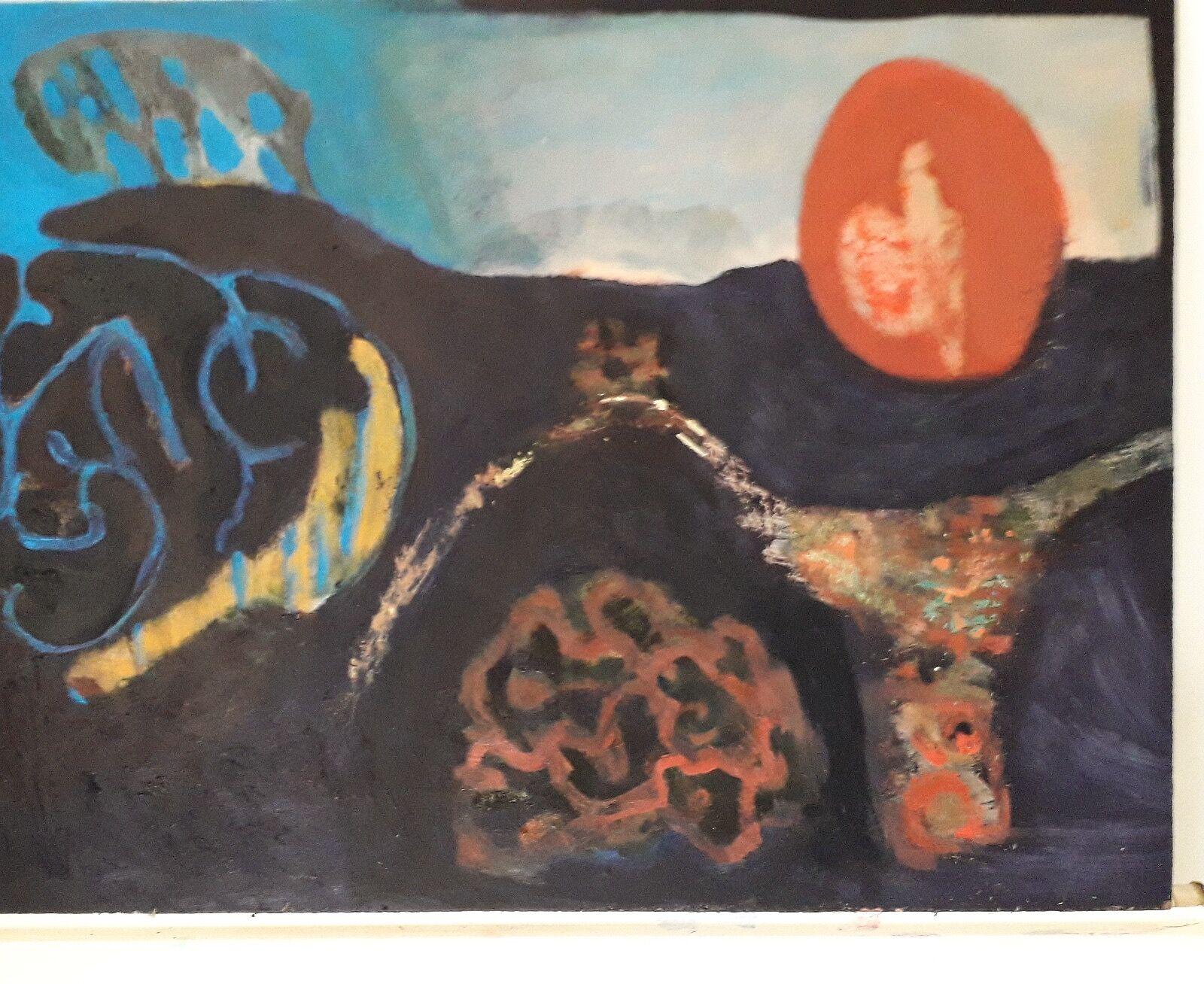 Interim.   Oil on panel.  2019