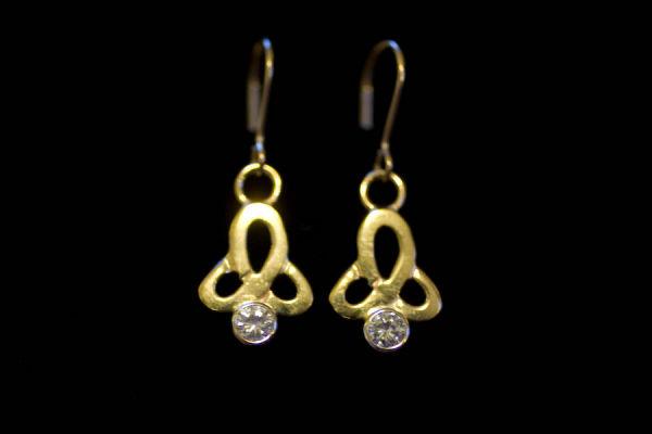 Diamond Triskel Earrings