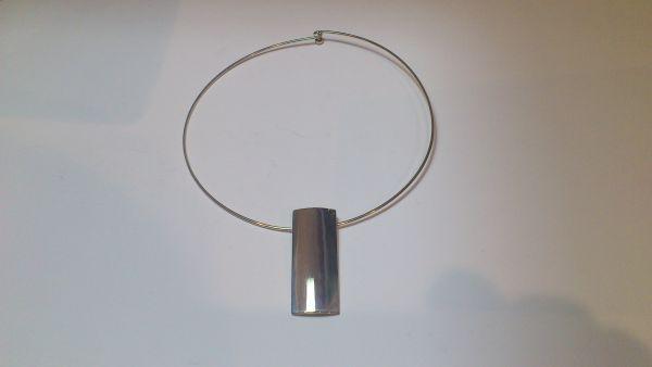 silver contemp necklace