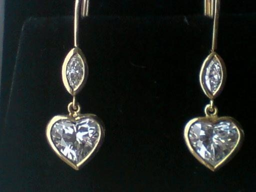 3 Ct Heart Shape Dia Earrings