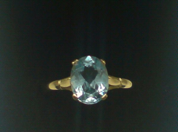 2 Carat Blue Topaz Ring