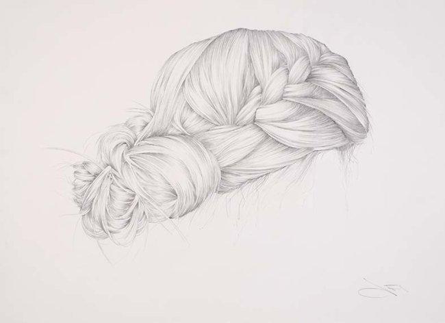 Plaited wedding hair
