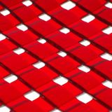Red lattice bowl detail