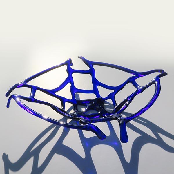 delicate blue lattice dish (sold)