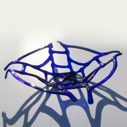 delicate blue lattice dish