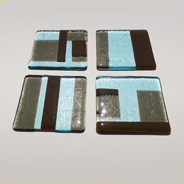 brown and blue coasters (sold)