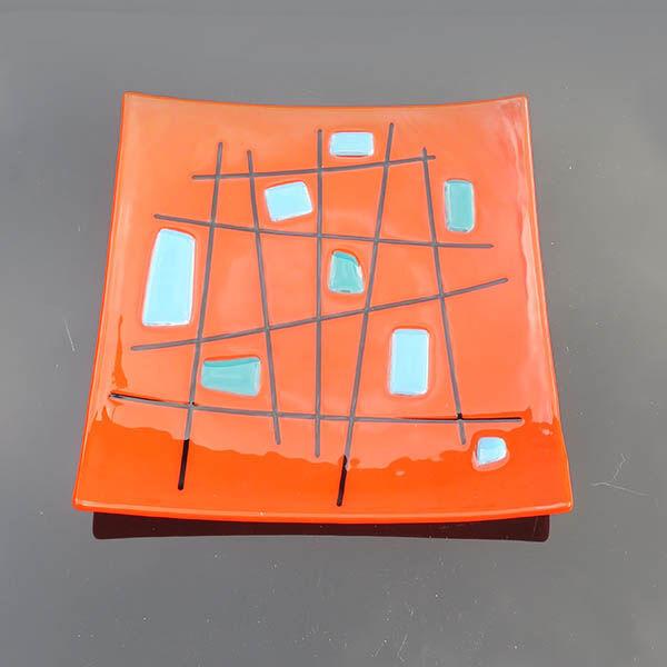 criss cross orange square