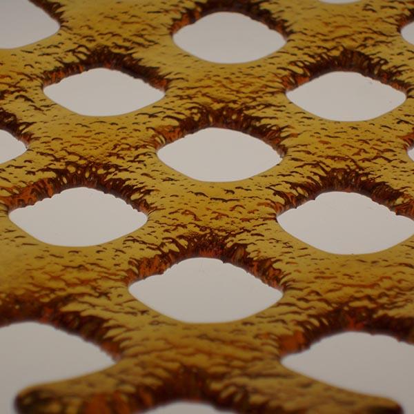 gold lattice detail