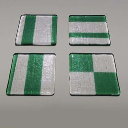 green and clear coasters (sold)