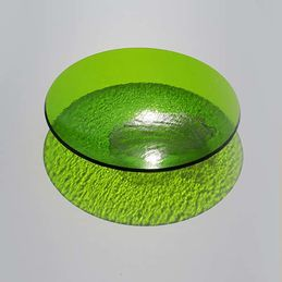round painted green dish