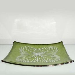 green and white patterned dish (sold)