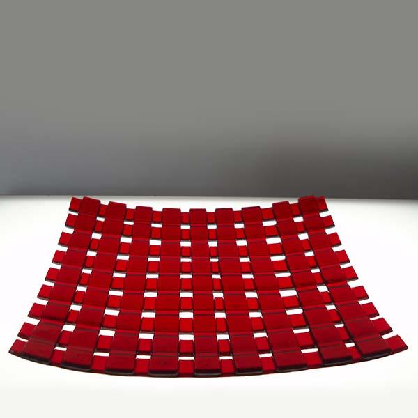 red lattice dish (sold)