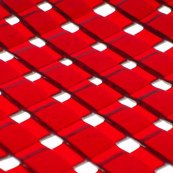 red lattice detail