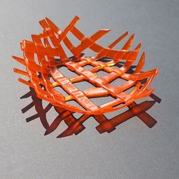 spikey orange dish (sold)