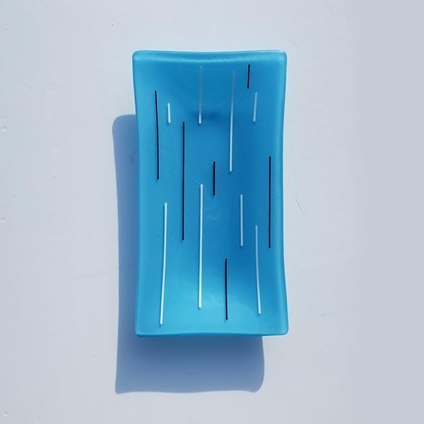sky blue rectangular dish