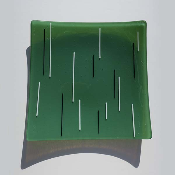 green, white and black square