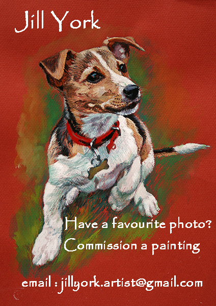 Commission painting of Jack Russell.