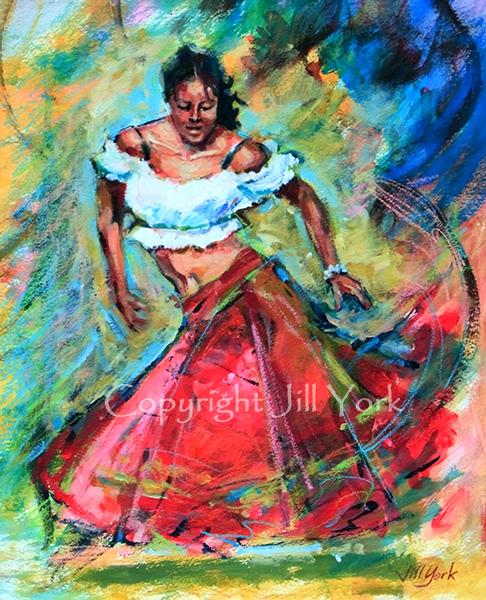 Swirling Skirt - SOLD