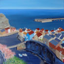 Staithes from the Top  SOLD