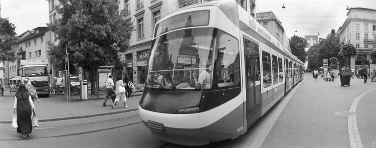 Girl on Tram