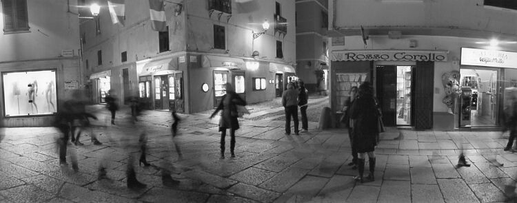 people in the square