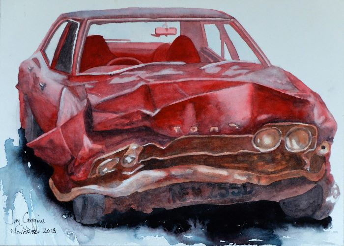 1960s Revisited Crashed Cortina
