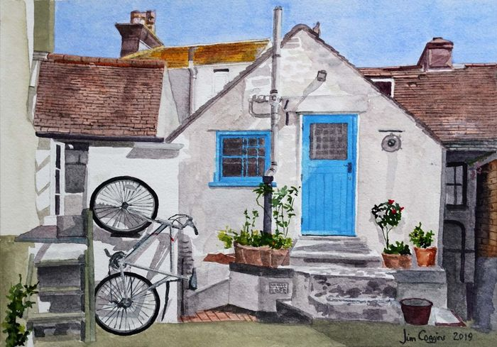 Brighton cottage with bicycle