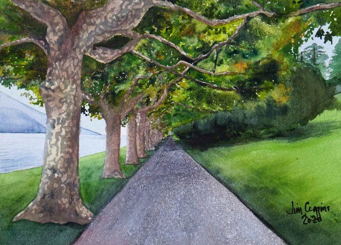 Como lakeside path