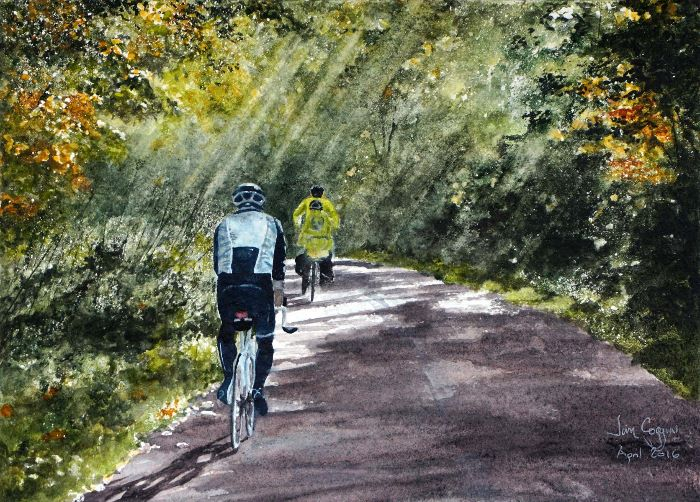 Cycling through the woods