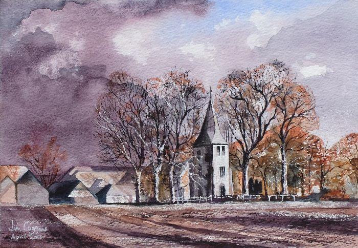 Detling Church after Rowland Hilder