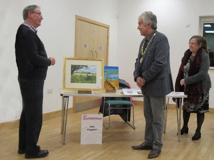 Presentation of my painting to the Mayor of Milton Keynes