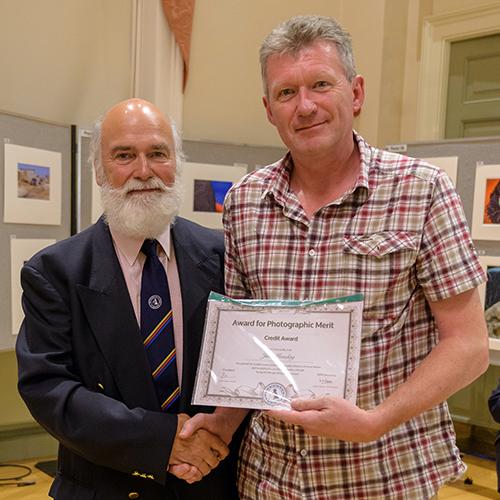 Leo Rich presenting my Certificate