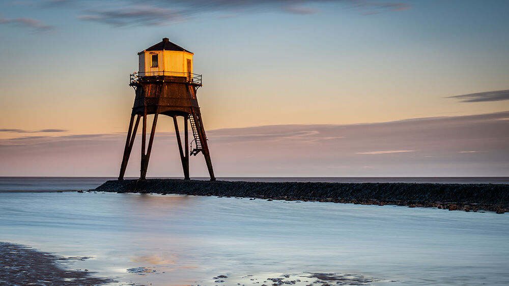 Dovercourt Lighthouse At Sunset