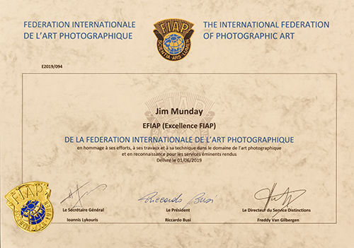EFIAP Certificate News