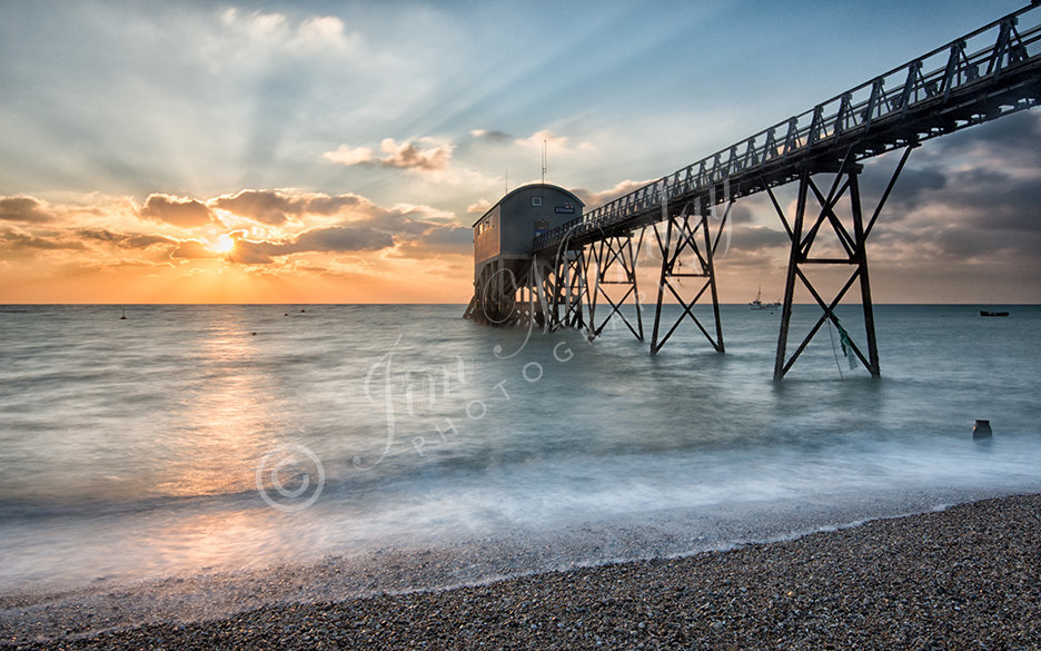 Selsey Lifeboat Station at Sunrise