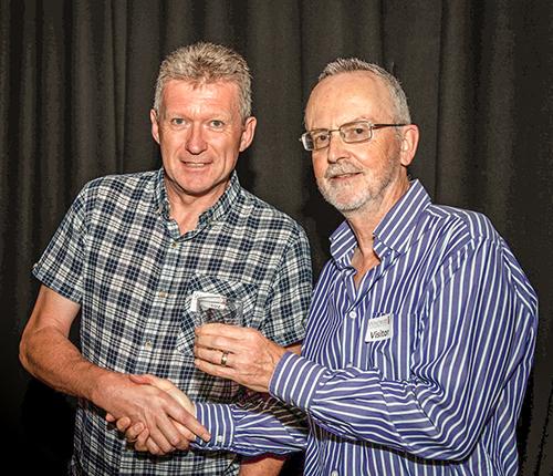 Glyn Edmunds presenting my award