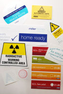 STICKERS AVAILABLE IN ANY SHAPE OR SIZE, UNLIMITED COLOURS