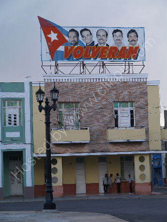 The Five Heroes banner,Cienfuegos