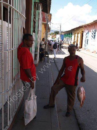 Man with fish, Trinidad