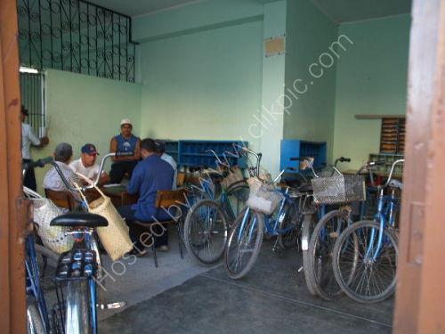 Bicycle parking shop