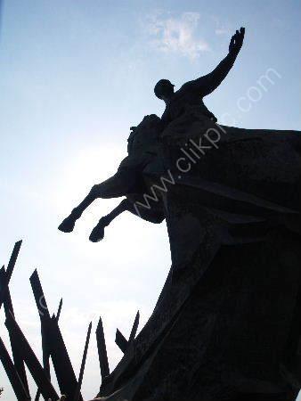 Havana: bronze horse sculpture