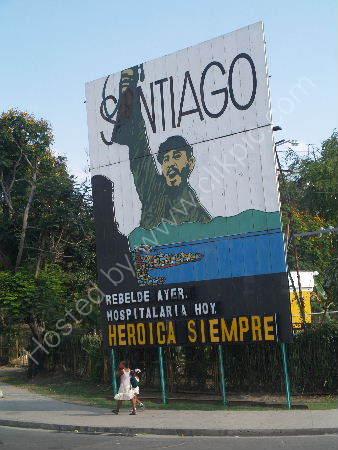 Fidel Castro billboard