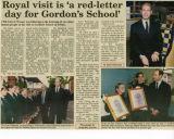 Royal visit news article