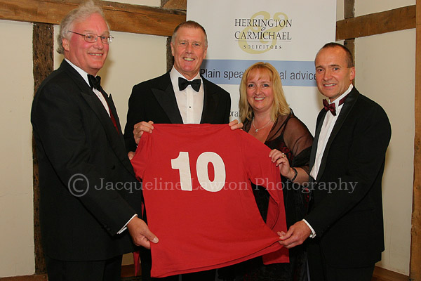 Sir Geoff Hurst at a company Dinner