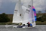 Sail No 855 racing against Sail No 2530 at Frensham Ponds SC 10 Hour Race 2014