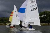 sailing into dark skies, Sail No 1964 & Sail No 2339 at Frensham Ponds SC 10 Hour Race 2014